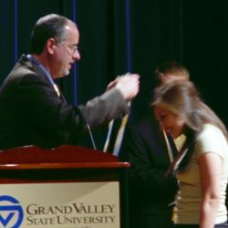 Alyssa Vasquez, with Dan Balfour at Pi Alpha Alpa induction, 2007